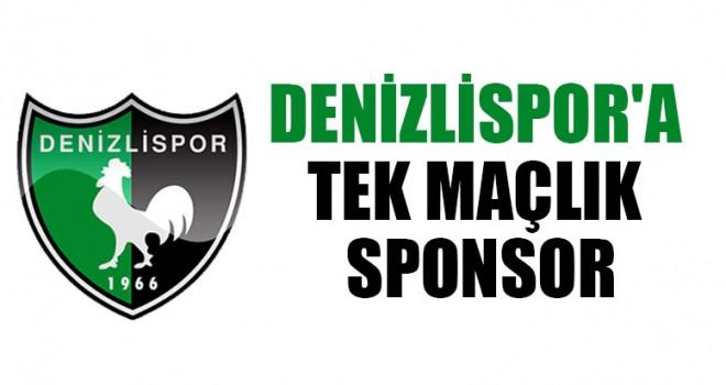 Denizlispor'a Tek Maçlık Sponsor