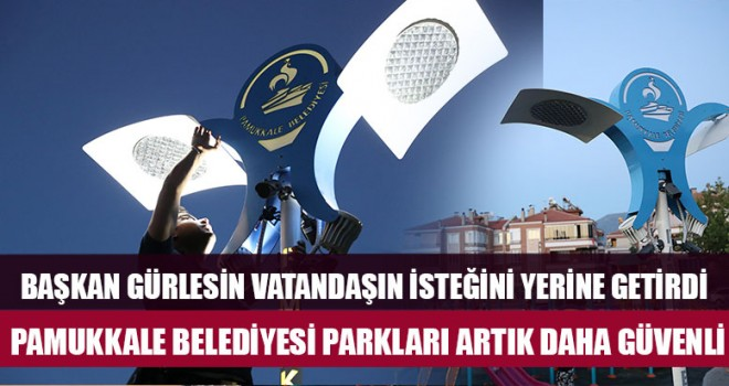 Pamukkale'de parklar 24 saat izlenecek