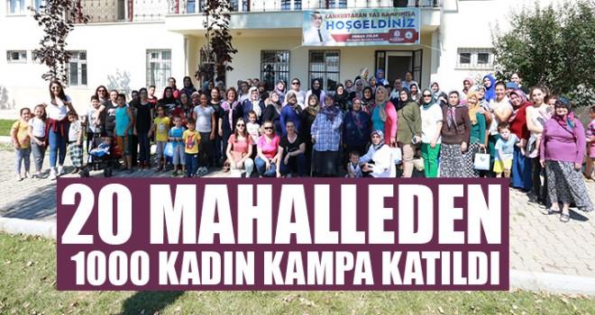 20 Mahalleden 1000 Kadın Kampa Katıldı