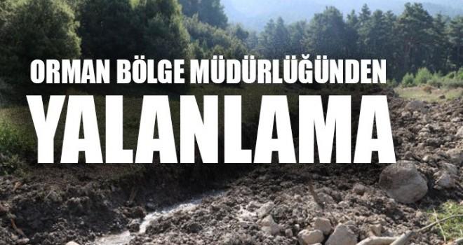 İddialara Orman Bölge Müdürlüğünden Yalanlama