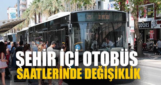 Denizli'de Şehir İçi Otobüs Saatlerinde Değişiklik
