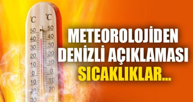 Meteorolojiden Denizli Açıklaması Sıcaklıklar…