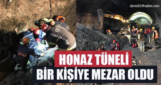 Honaz Tüneli'nde Göçük  1 Kişi Hayatını Kaybetti