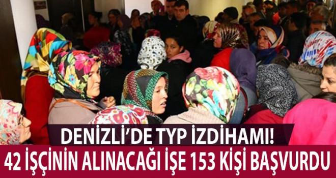42 işçi alınacak 153 başvuru geldi