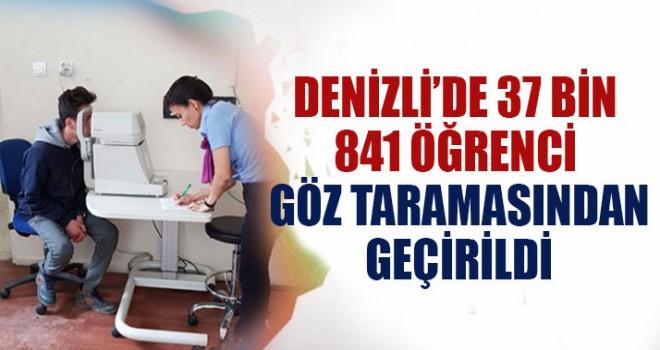 Denizli'de 37 Bin 841 Öğrenci Göz Taramasından Geçirildi