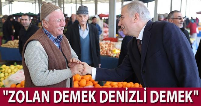 Başkan Osman Zolan pazaryerlerinde vatandaşlarla sohbet etti