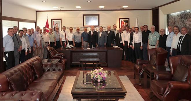 Esnaf ve Sanatkarlar Odaları Birliği'nden Başkan Osman Zolan'a ziyaret