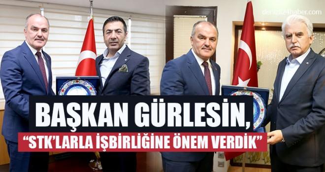 """Başkan Gürlesin, """"STK'larla İşbirliğine Önem Verdik"""""""