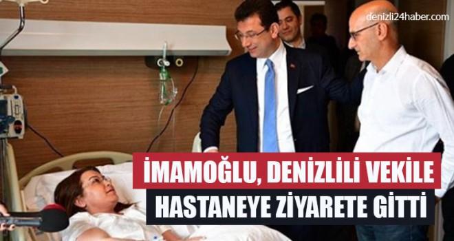 İmamoğlu, Denizlili Vekile Hastaneye Ziyarete Gitti