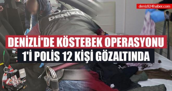 Denizli'de Köstebek Operasyonu 1'i Polis 12 Kişi Gözaltında