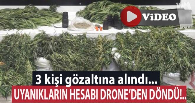Mısır tarlasına droneli operasyon!