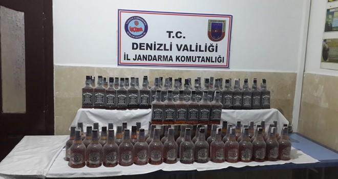 Denizli'de kaçak içki operasyonu