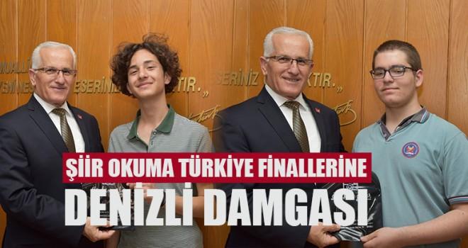 Şiir Okuma Türkiye Finallerine Denizli Damgası