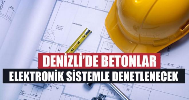 Denizli'de Betonlar Elektronik Sistemle Denetlenecek