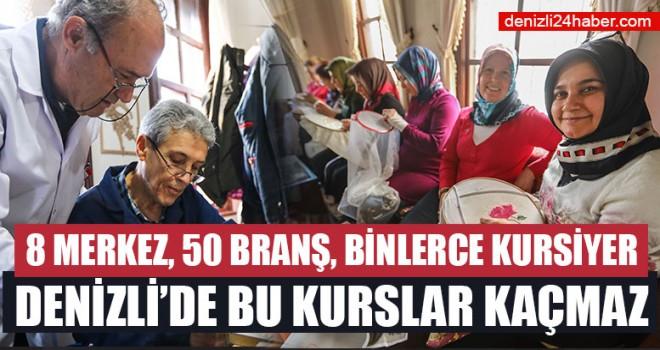 Denizli'de Türk el sanatları öğretiliyor