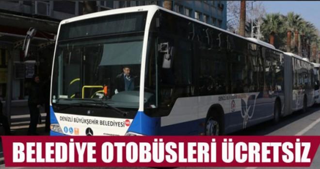 Denizli Belediye otobüsleri 2 gün ücretsiz olacak