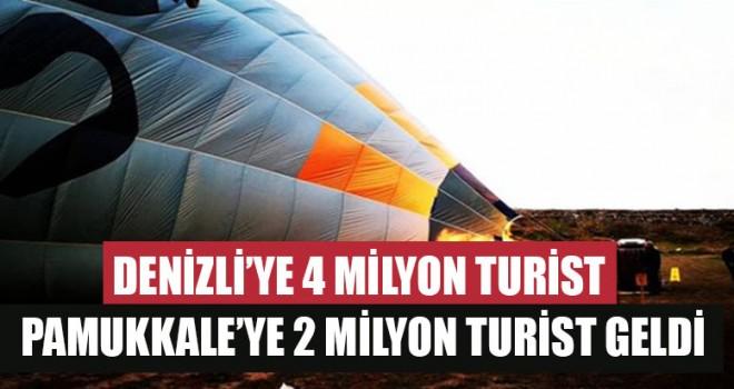 Denizli'ye 4 Milyon Turist Pamukkale'ye 2 Milyon Turist Geldi