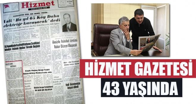 Hizmet Gazetesi 43 Yaşında