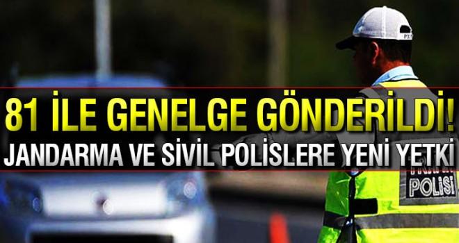 Jandarma ve sivil polislere trafik cezası yetkisi