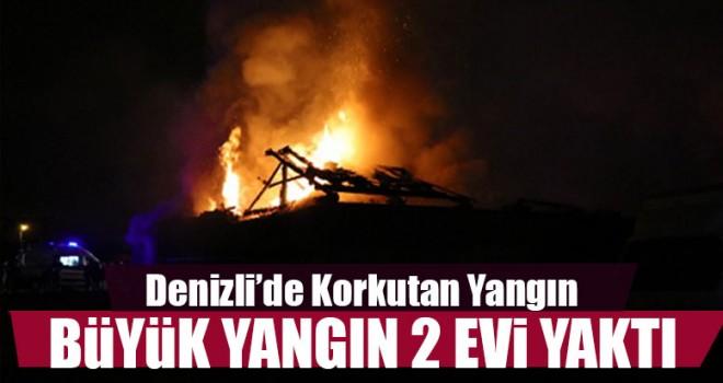Büyük Yangın 2 Evi Yaktı