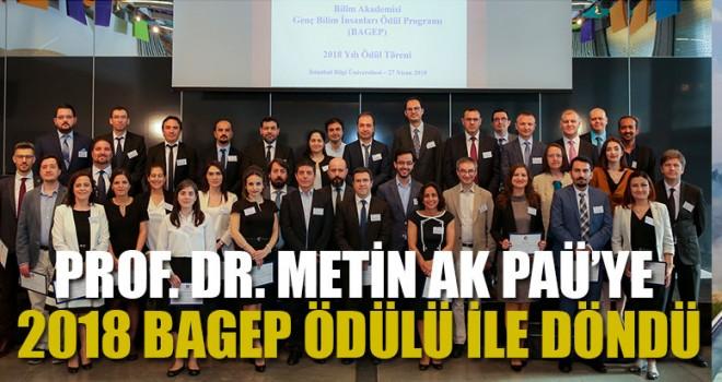 Prof. Dr. Metin Ak PAÜ'ye 2018 Bagep Ödülü İle Döndü