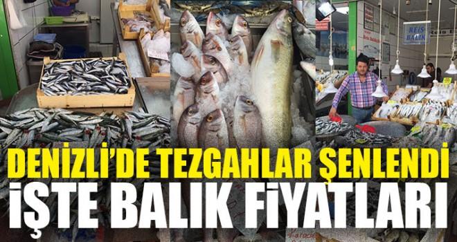 Denizli'de Tezgahlar Şenlendi İşte Balık Fiyatları