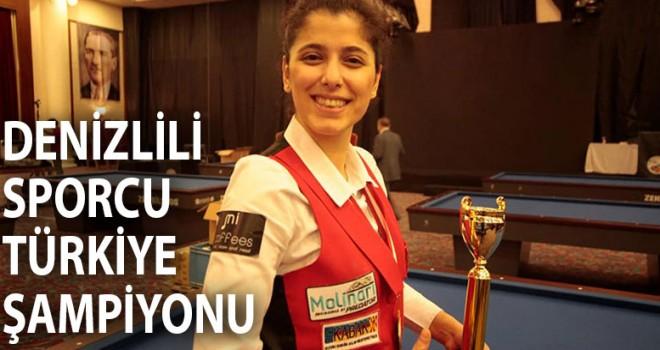 Denizlili sporcu Türkiye Şampiyonu