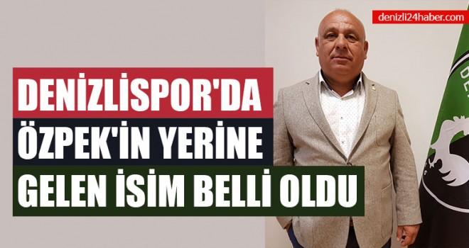 Denizlispor'da Özpek'in Yerine Gelen İsim Belli Oldu