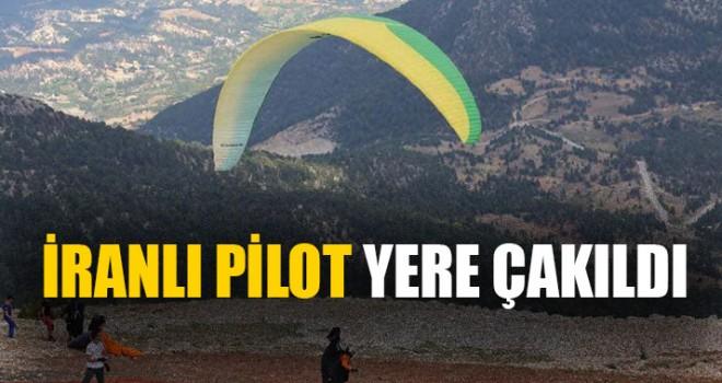 İranlı Pilot Yere Çakıldı