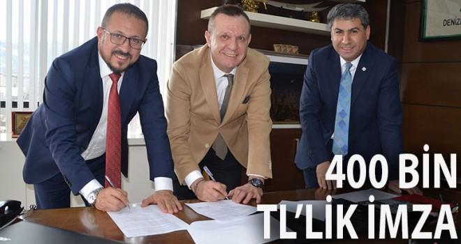 Büyükşehir'in Denizlispor'a desteği sürüyor