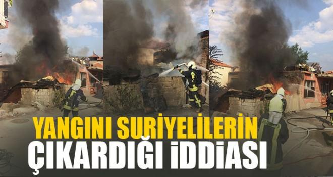 Yangını Suriyelilerin Çıkardığı İddiası