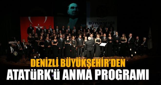 Denizli Büyükşehir'den Atatürk'ü Anma Programı