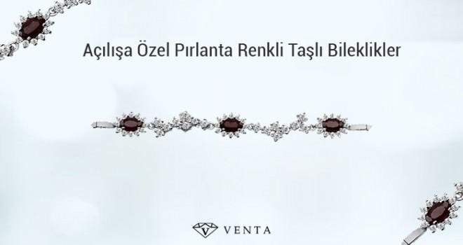 Venta Pırlanta Açılışa Özel Pırlanta Renkli Taşlı Bileklikler