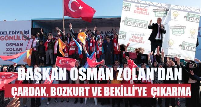 Başkan Osman Zolan'dan Çardak, Bozkurt Ve Bekilli'ye Çıkarma