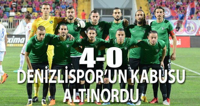 Denizlispor Ege gazisi 4-0