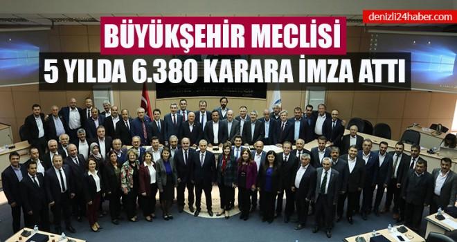 Büyükşehir Meclisi 5 Yılda 6.380 Karara İmza Attı