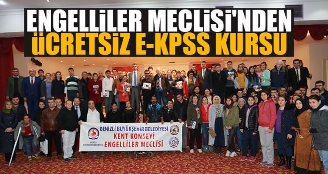 Engelliler Meclisi'nden Ücretsiz E-Kpss Kursu