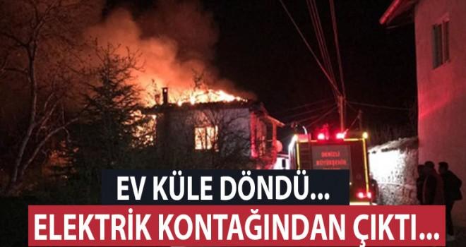 2 katlı evde büyük yangın