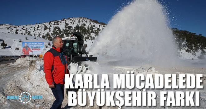 Karla mücadelede Büyükşehir farkı