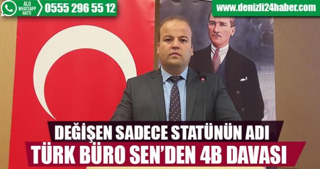 Türk Büro Sen'den yeni yasaya dava