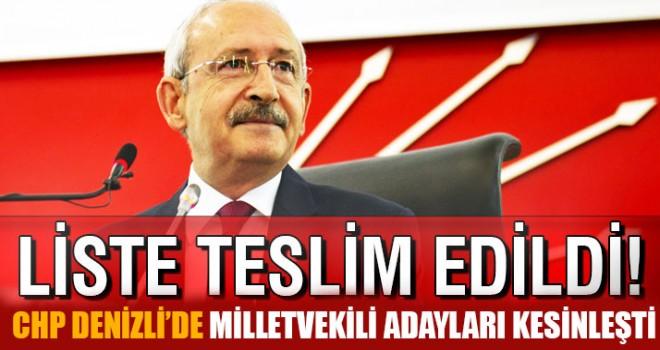 CHP'nin Denizli milletvekili adayı listesi kesinleşti
