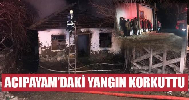 Acıpayam'daki Yangın Korkuttu