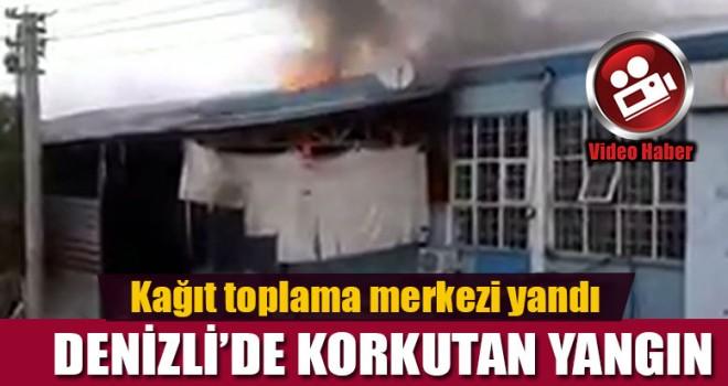 Denizli'de işyeri yangını