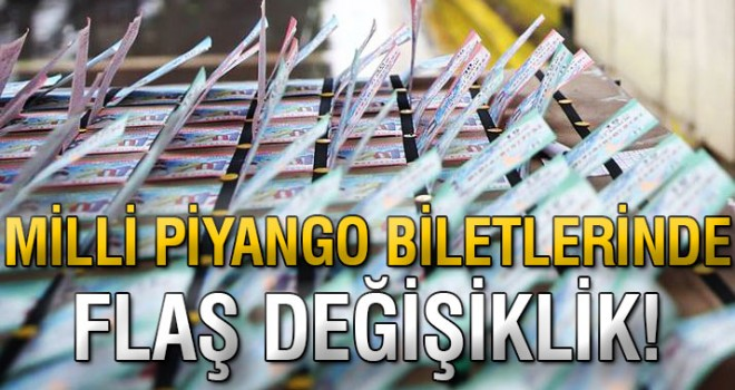 Milli Piyango biletlerinde değişiklik!
