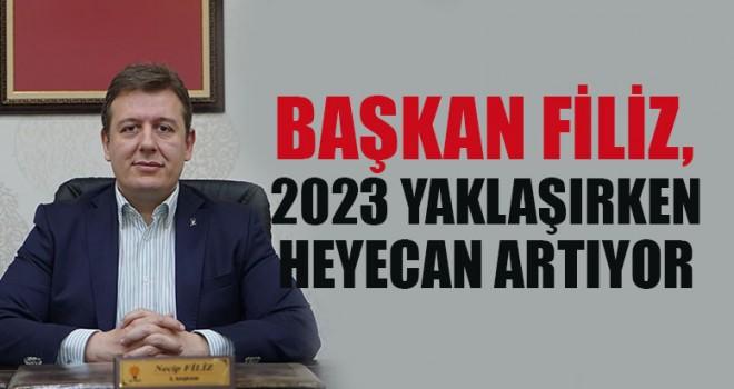 """Başkan Filiz, """"2023 Yaklaşırken Heyecan Artıyor"""""""
