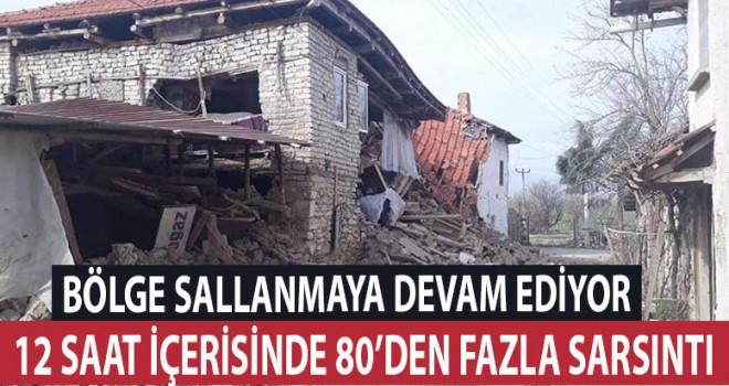 12 saatte 80'den fazla deprem!