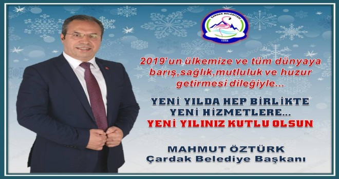 Başkan Öztürk'ten yeni yıl mesajı