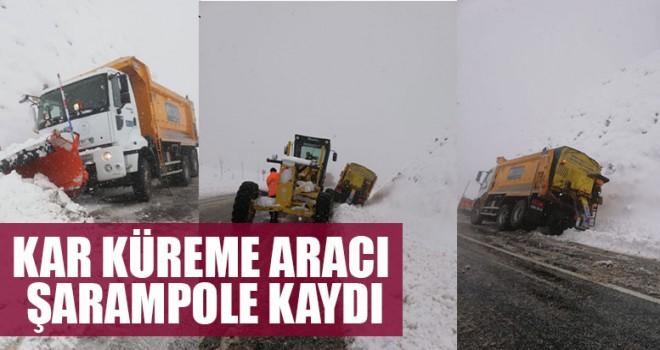 Kar Küreme Aracı Şarampole Kaydı
