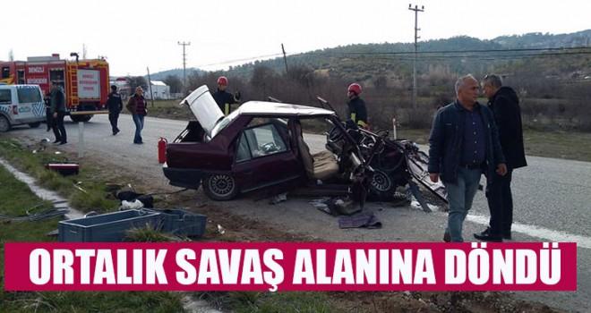 Kazada Ortalık Savaş Alanına Döndü