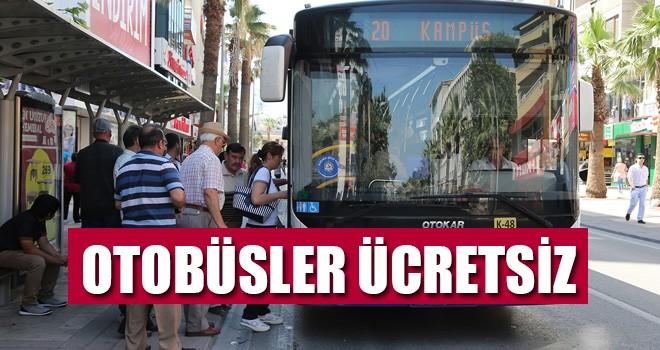Denizli'de Otobüsler Ücretsiz